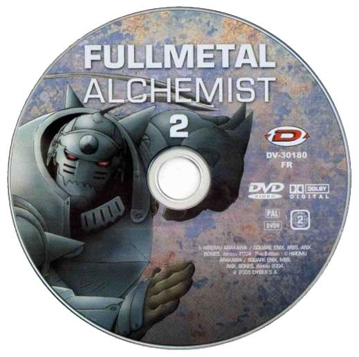 DVD 02 de la série TV 2004 Fullmetal Alchemist