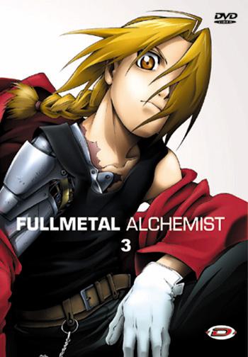 Couverture du DVD 3 de Fullmetal Alchemist sorti chez Dybex