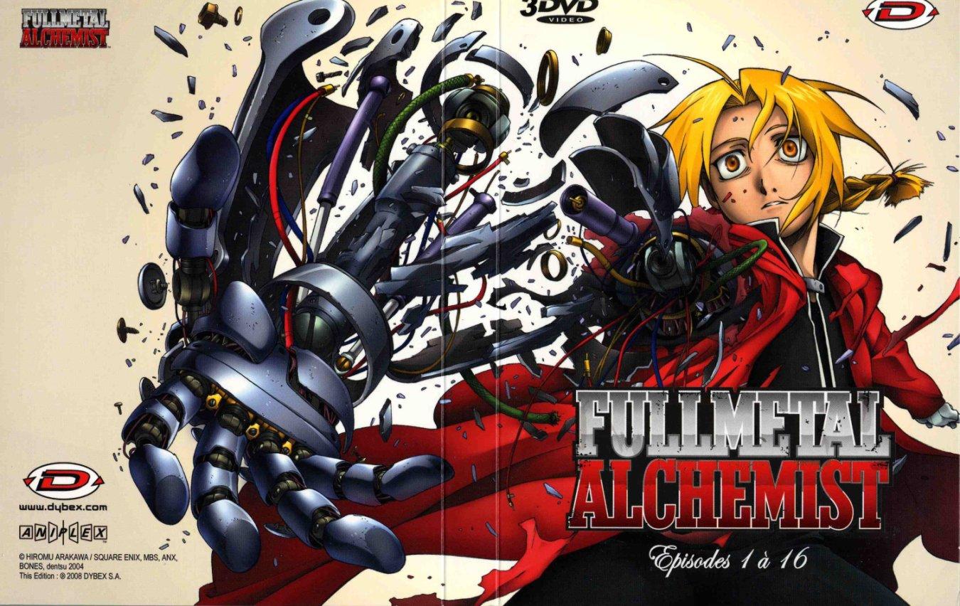 Extérieur du digipack avec les épisodes 1 à 15 de la box collector Fullmetal Alchemist