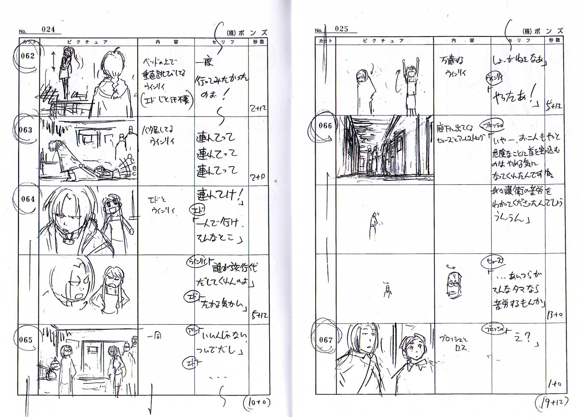 Page 24 Livret 2 Story board Fullmettal Alchemist Box DVD collector 1