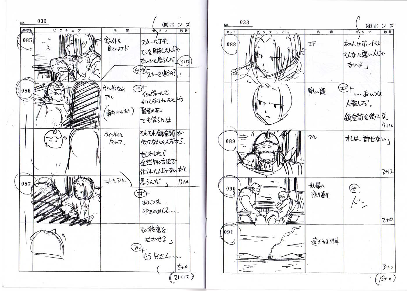Page 32 Livret 2 Story board Fullmettal Alchemist Box DVD collector 1