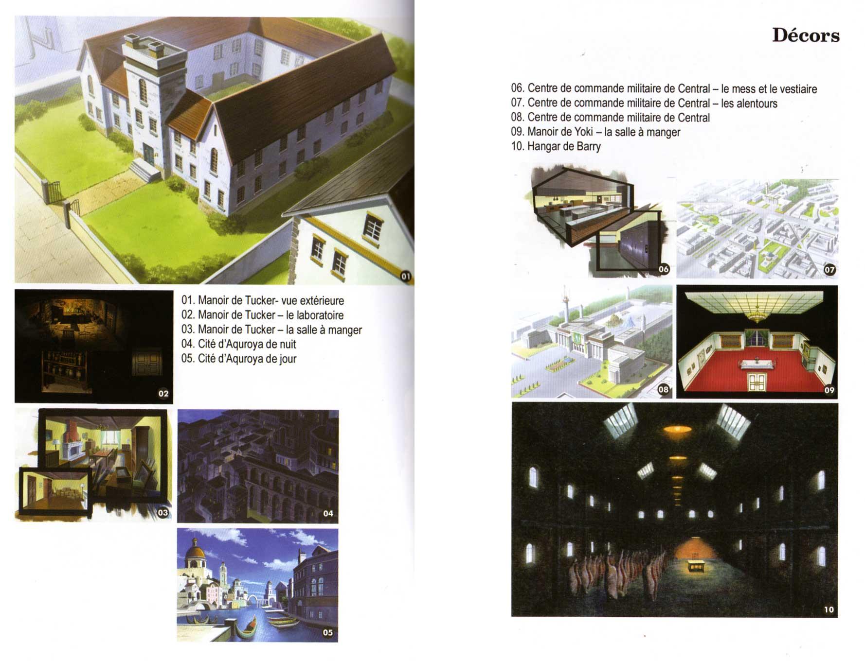 Décors extraits du livret d'information - Fullmetal Alchemist Box DVD collector 1 (Dybex - 2008)