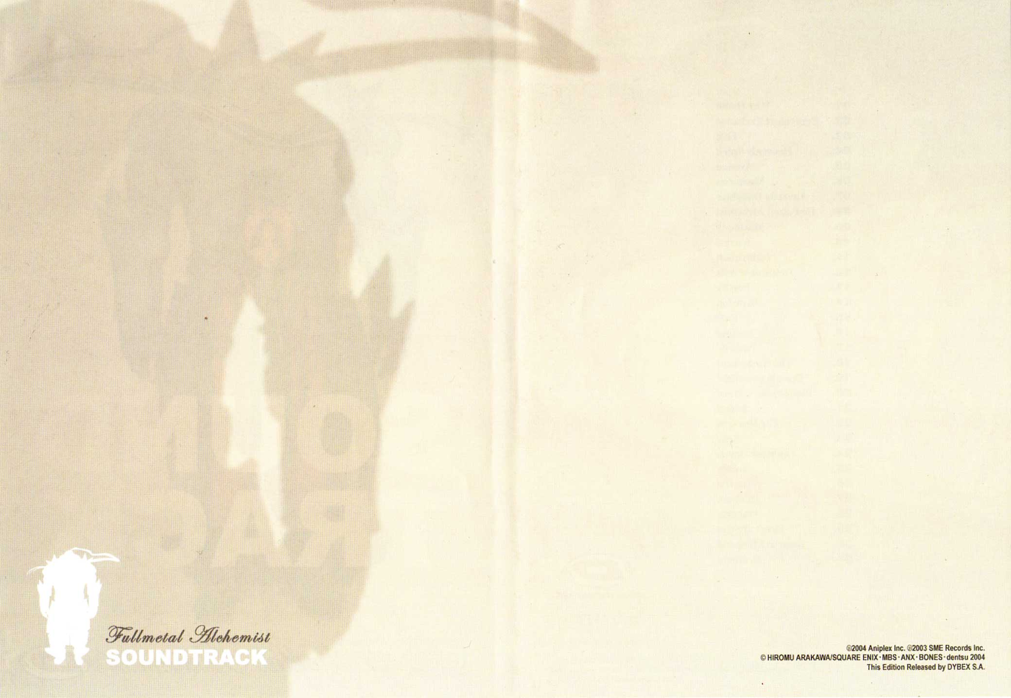 Fullmetal Alchemist OST (Dybex - 2008)