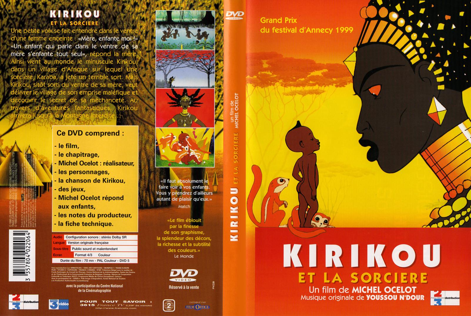Couv DVD de Kirikou et la sorcière