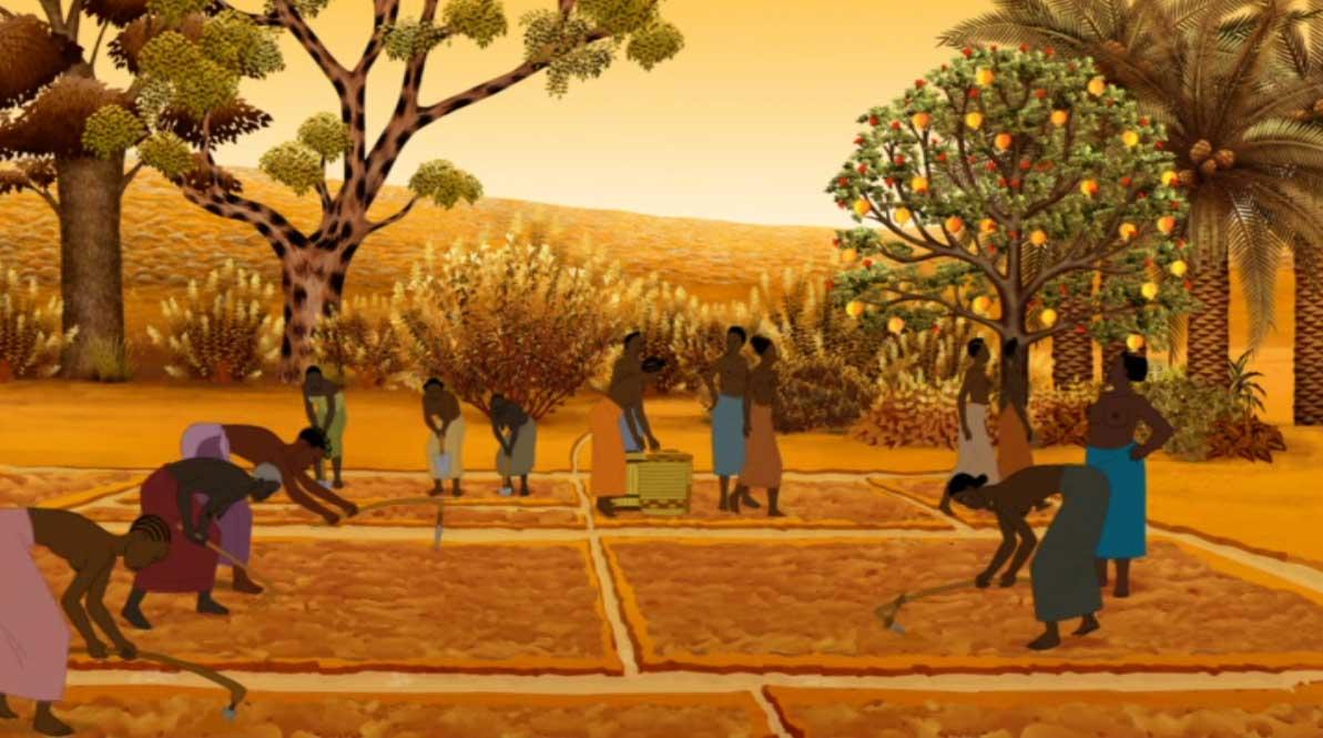 Histoire 1 : Kirikou et le potager (Kirikou et les bêtes sauvages)