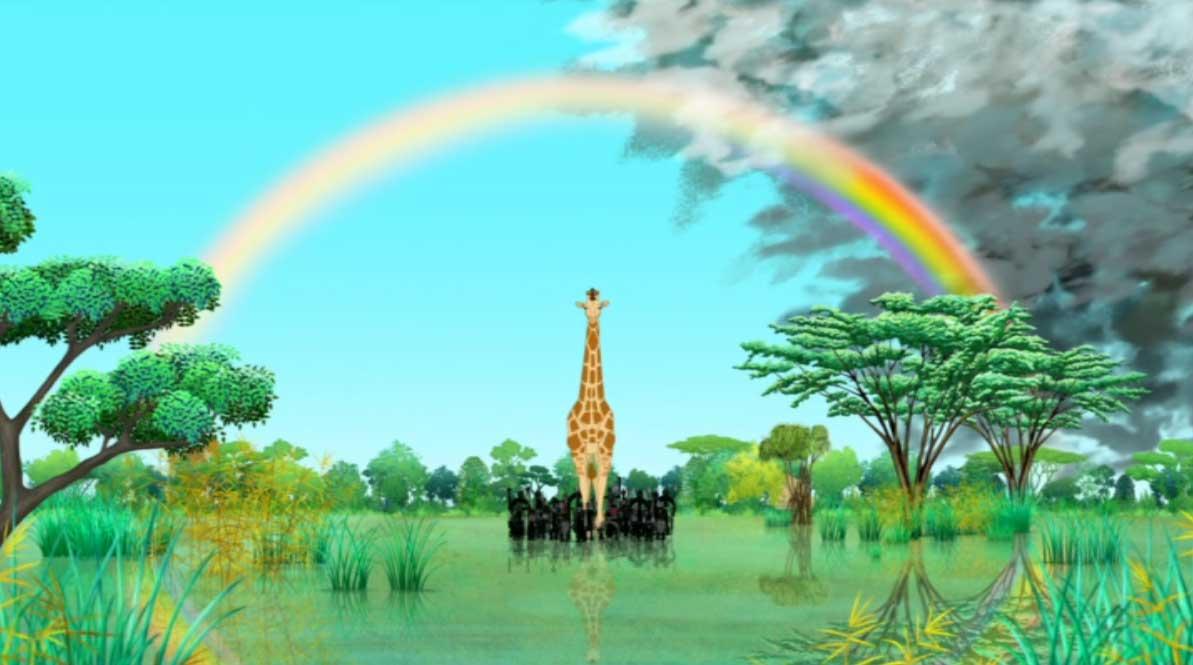 Histoire 3 : Kirikou et la girafe (Kirikou et les bêtes sauvages)