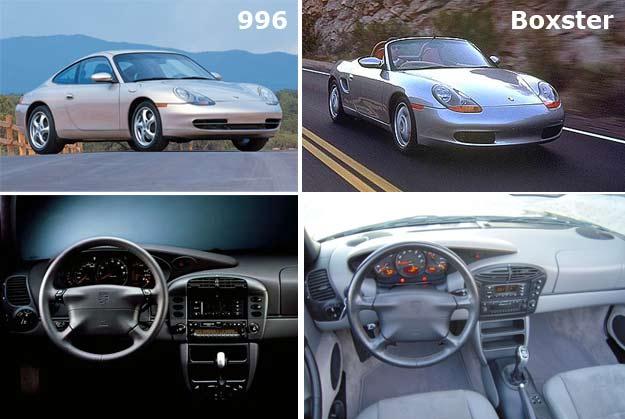comparaison Boxster 911 type 996
