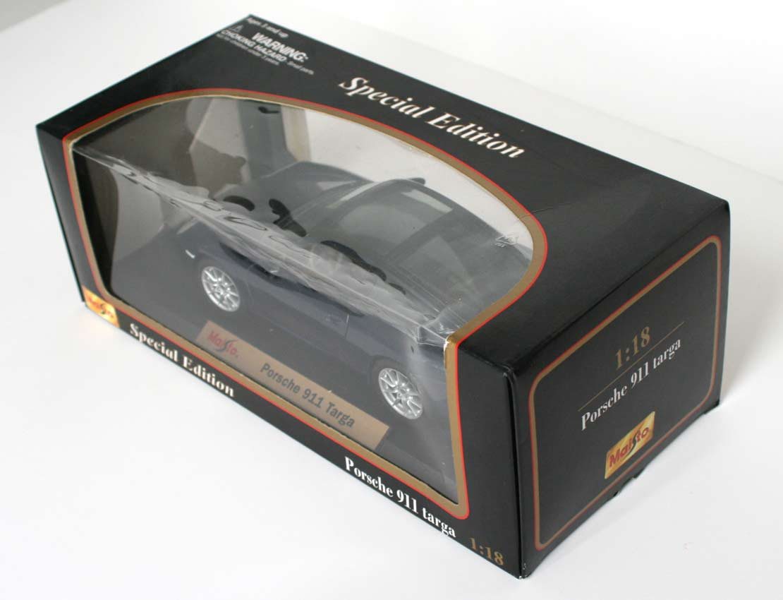 Packaging Maisto : Porsche 911 Targa (type 996) - ech 1/18 (2002)