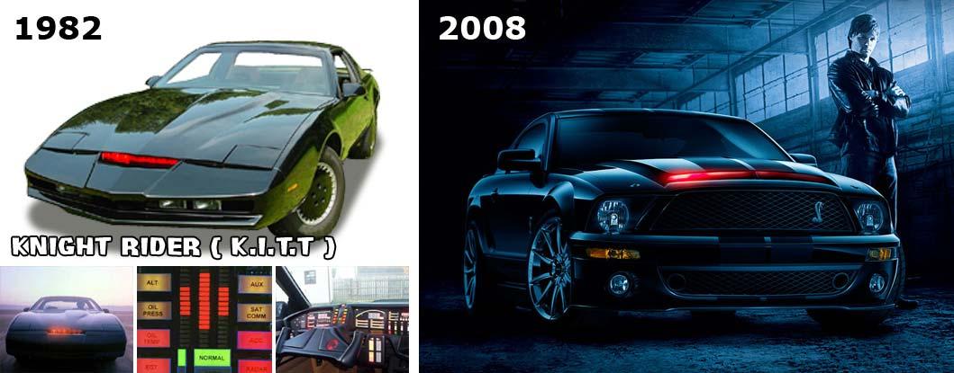 Comparaison des versions de K2000 entre 1982 et 2008