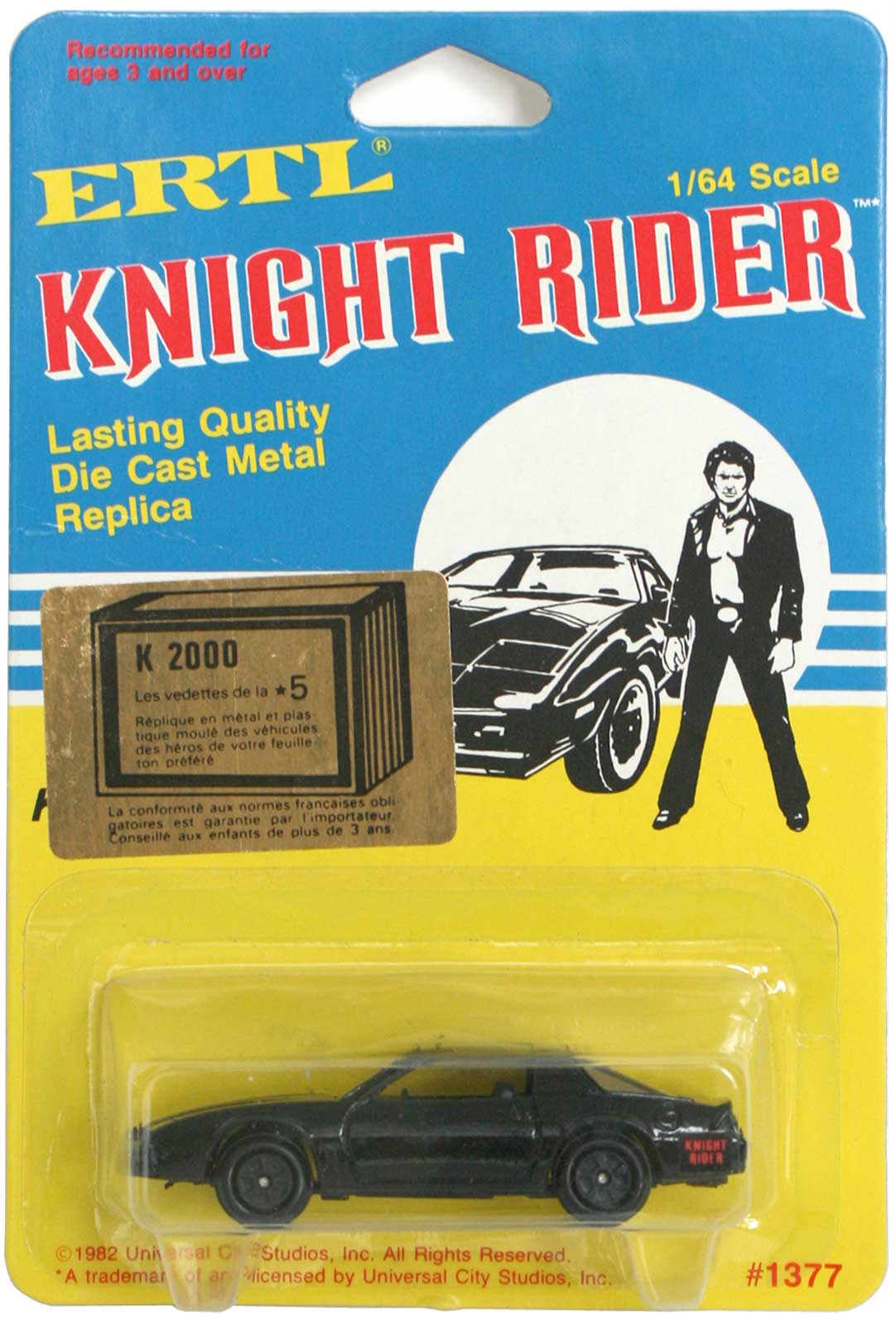 ERTL : Knight Rider (K2000) K.I.T.T. - ech 1/64 (1983)