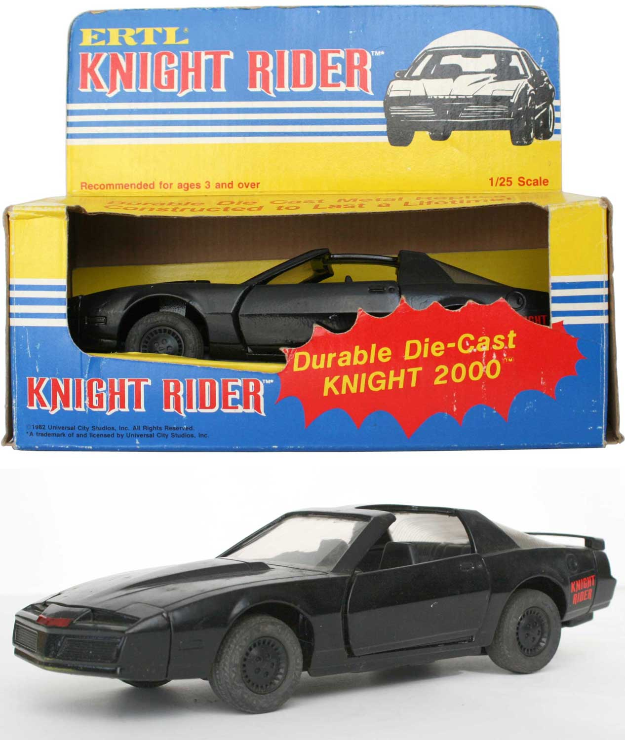 ERTL : Knight Rider (K2000) K.I.T.T. - ech 1/25