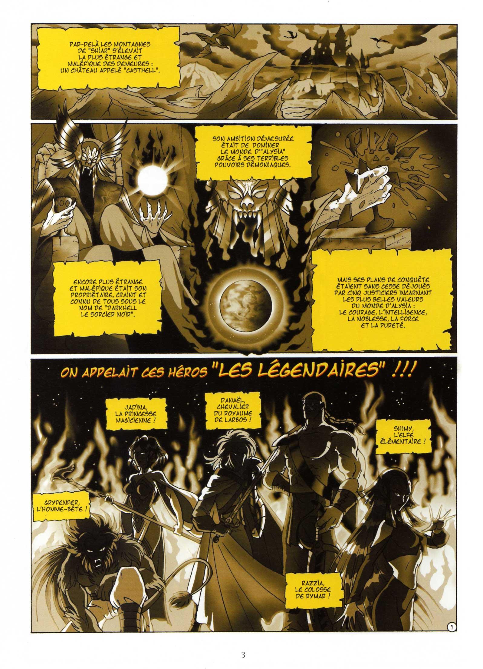 Les Légendaires Tome 1 : La Pierre de Jovénia : Page 1