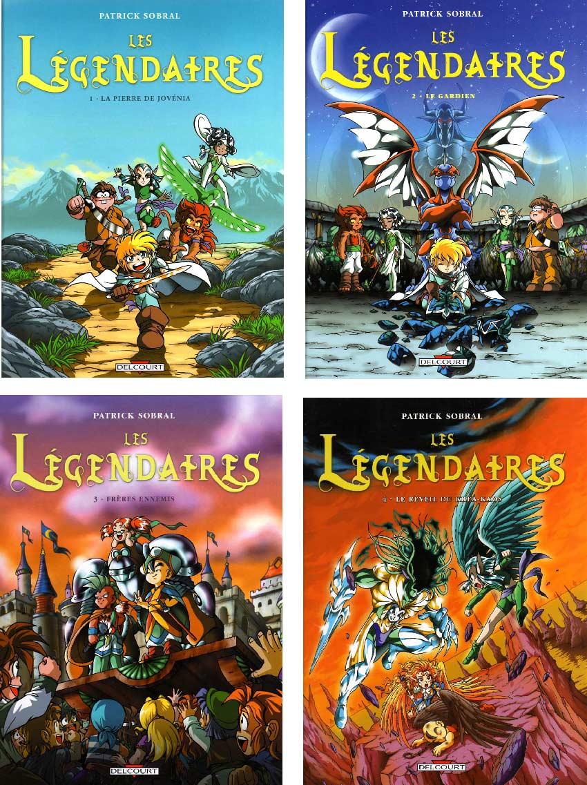 couverture des Légendaires Tome 1 à 4