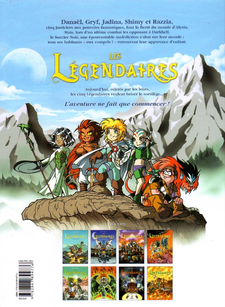 Les Légendaires Tome 2 : Le Gardien (couverture dos)
