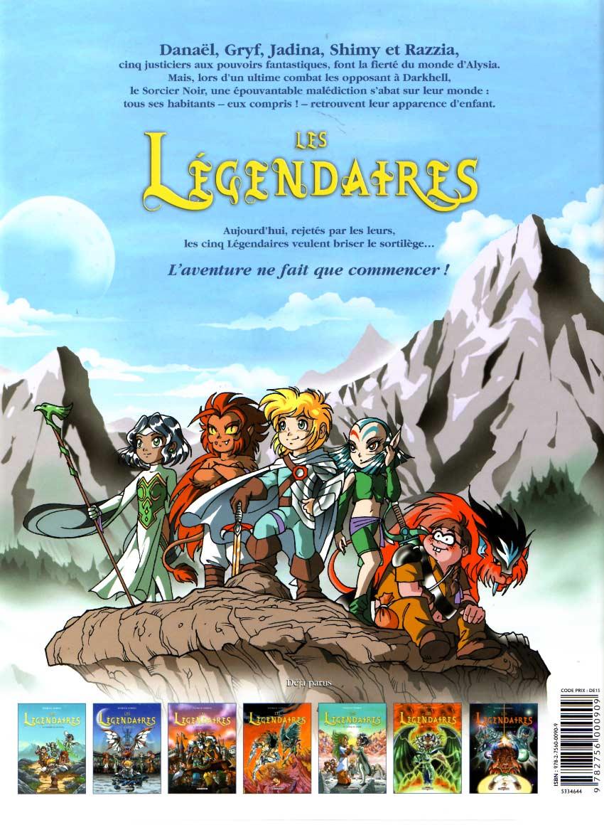 Les Légendaires Tome 05 : Cœur du passé (couverture dos)