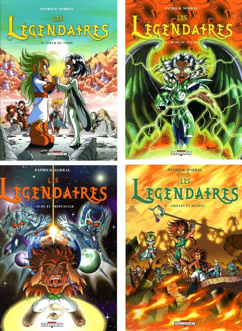Couvertures des Légendaires tomes 5 à 8