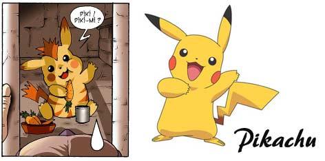 Pikachu et sa parodie