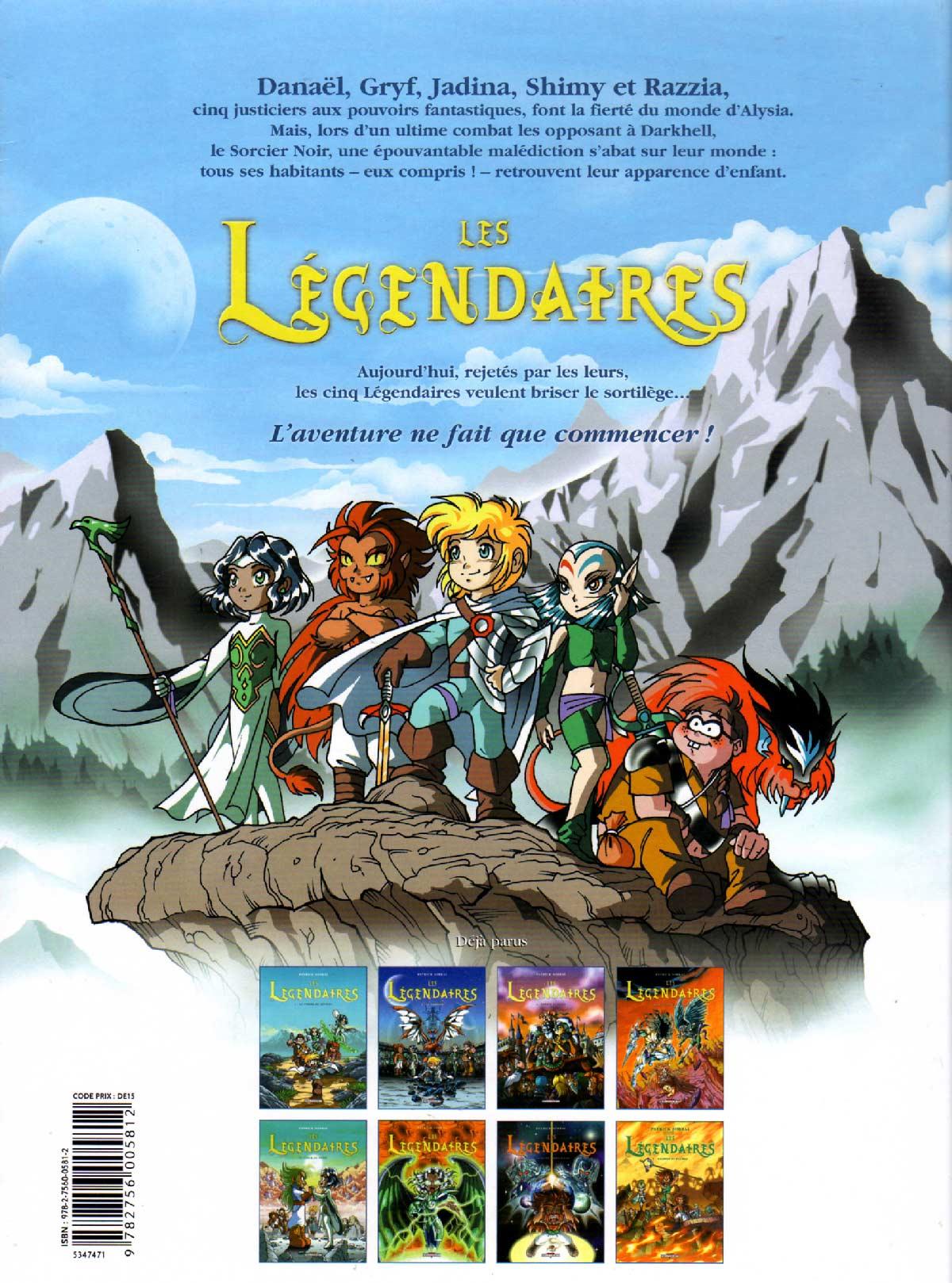 Les Légendaires Tome 08 : Griffes et plumes (couverture dos)