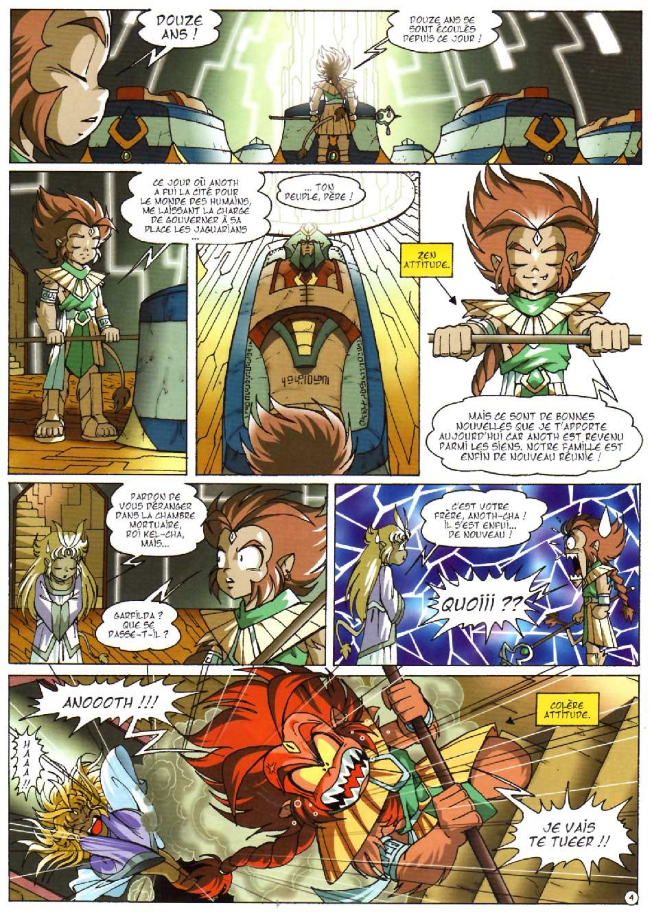 Page 4 : Les Légendaires Tome 08 : Griffes et plumes