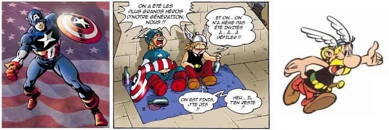Voici la parodie de Captain América et d'Astérix