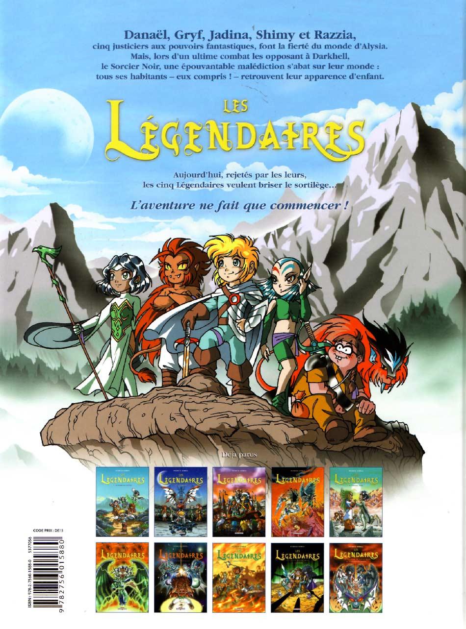 Les Légendaires Tome 10 : La marque du destin (couverture dos)