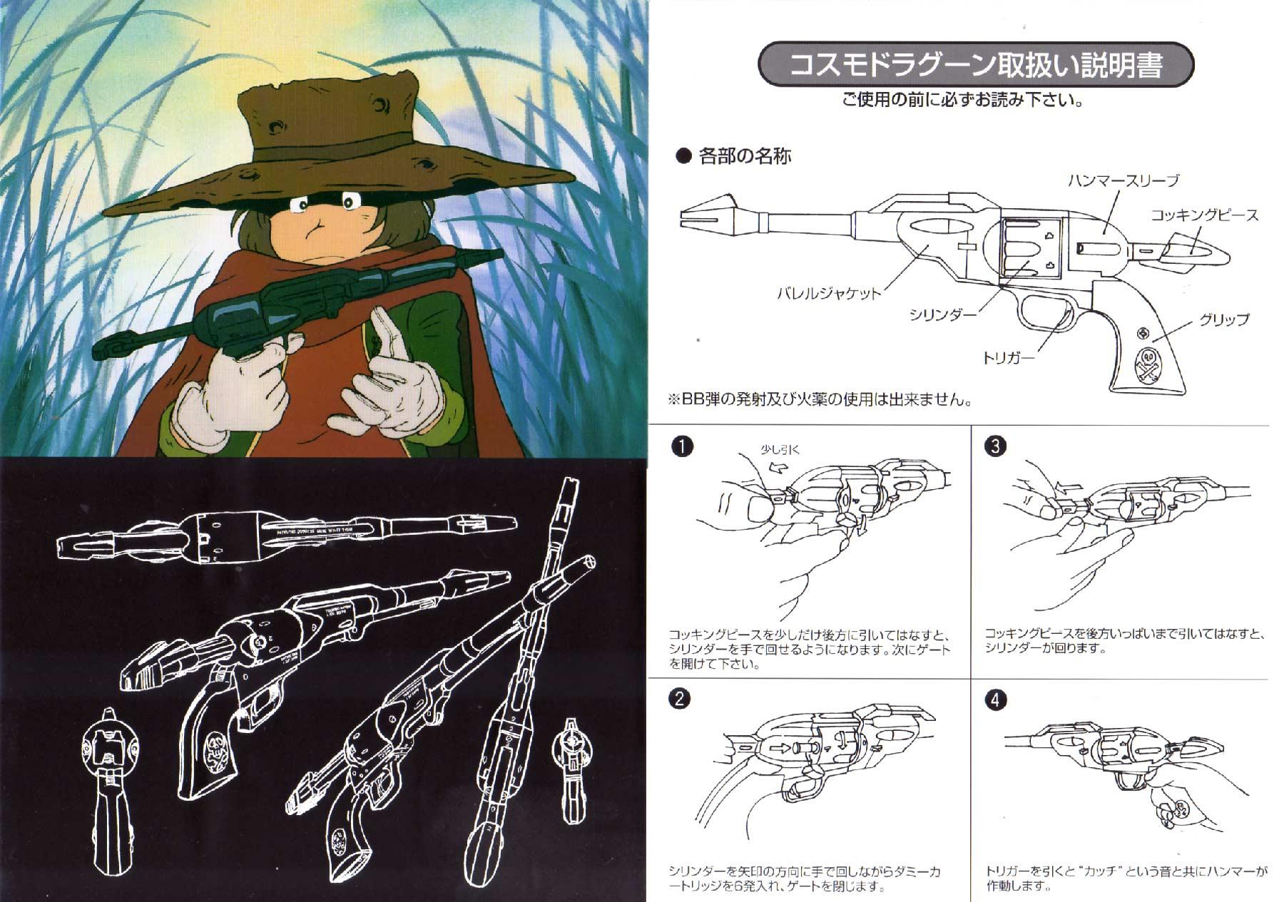 L'intérieur de la notice met en parallèle le Modèle Sheet original et le jouet montrant que ce dernier ne respecte pas l'original