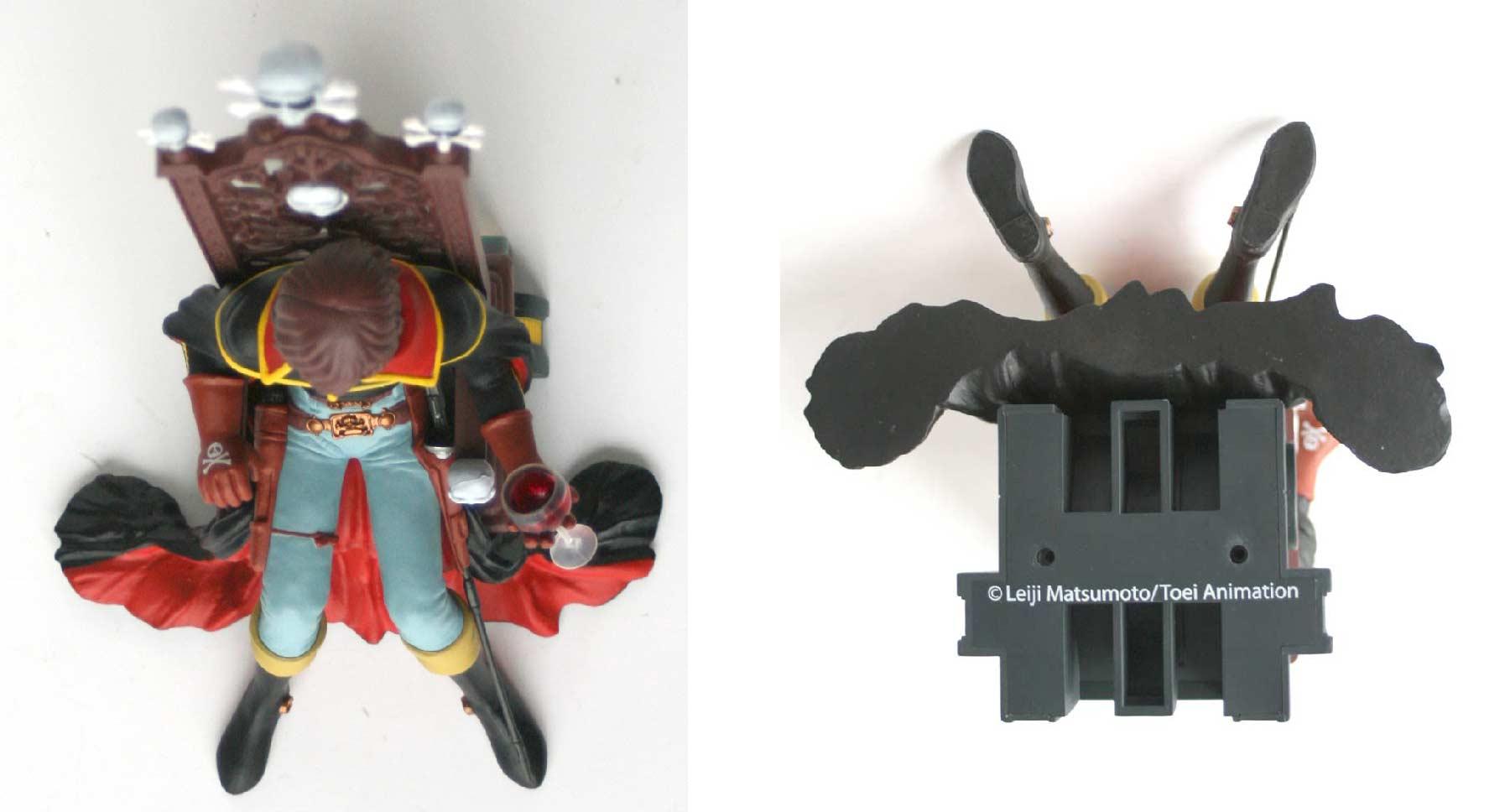 Vue de dessus et de dessous de la figurine