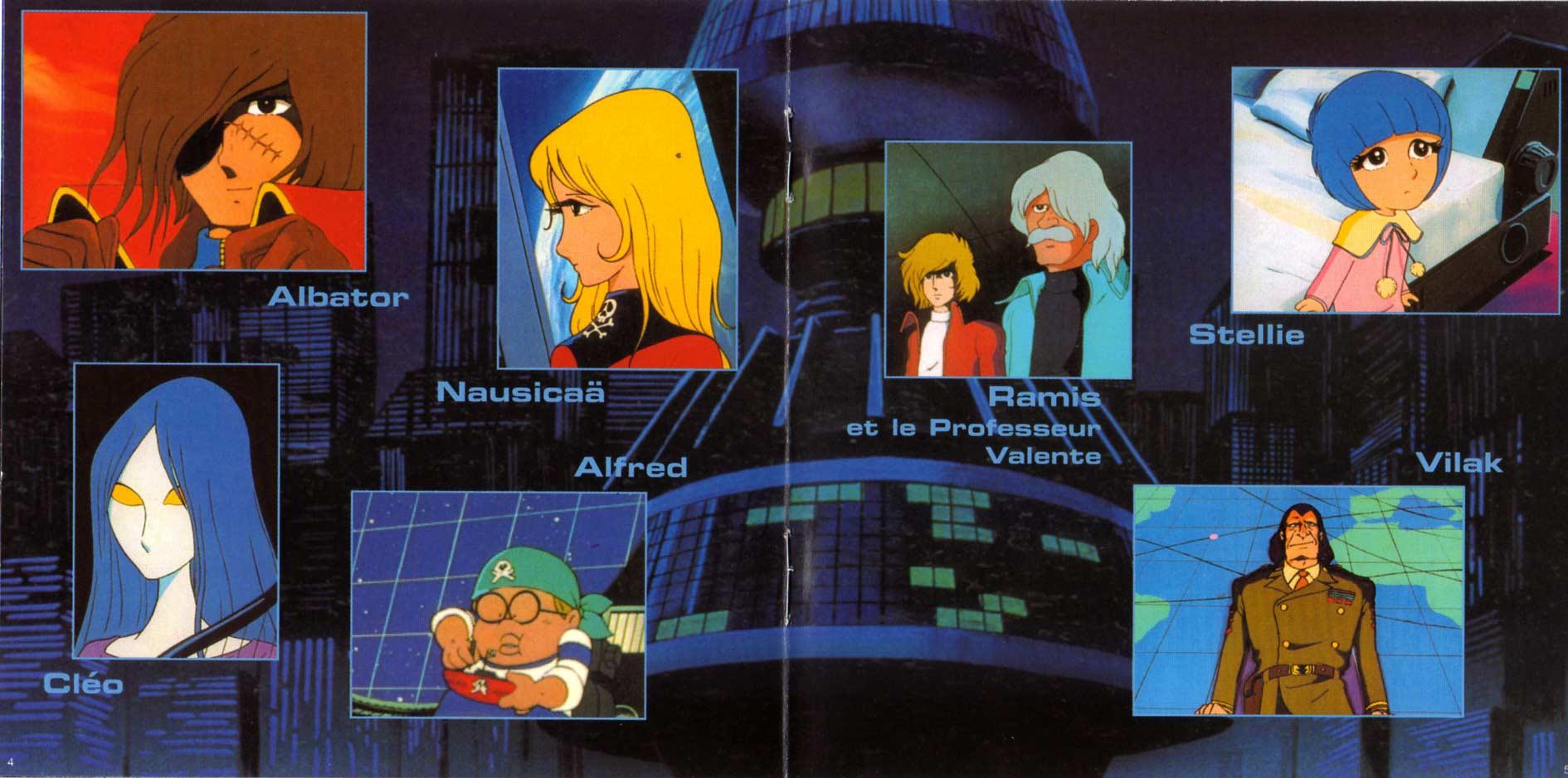 au milieu du livret,une double page présente les principaux personnages. C'est relativement inintéressant.