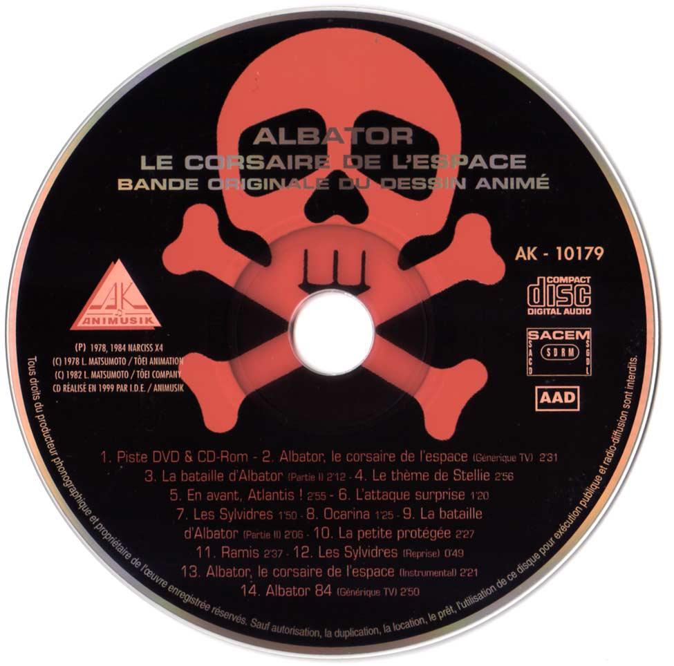 CD de la Bande Originale d'Albator 78 (CD Audio et Vidéo)