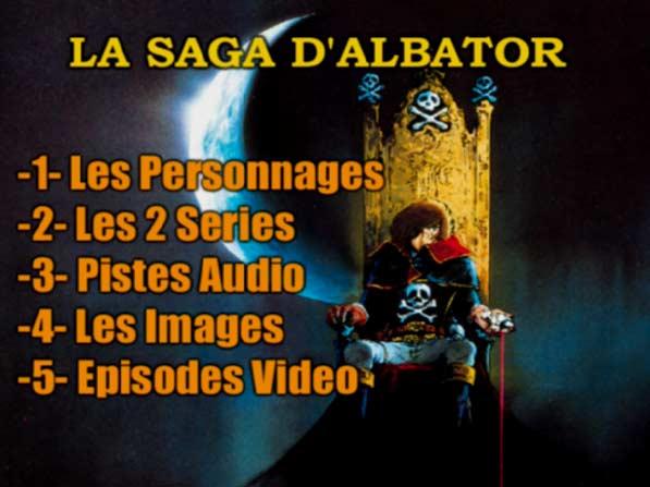 Menu DVD de la partie Vidéo du CD