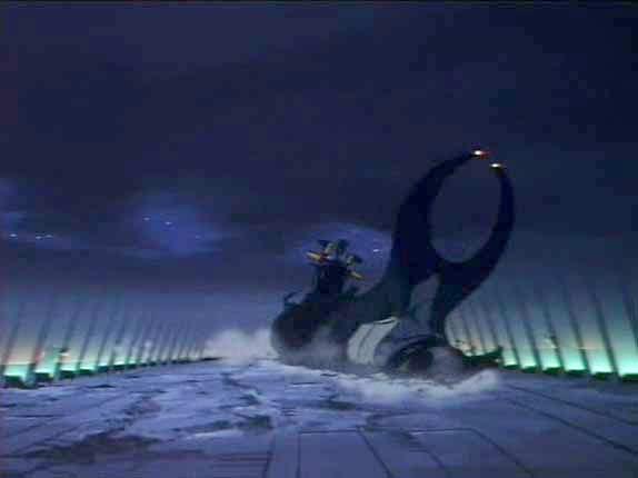 Pour éviter que les Humanoïdes puisse se servir de son vaisseau, Albator pose l'Ombre de la mort en catastrophe.