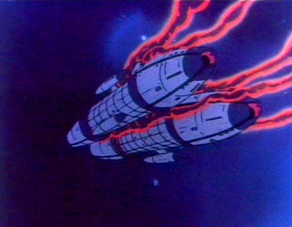 Albator s'attaque au reste de la flotte humanoïde restée en orbite