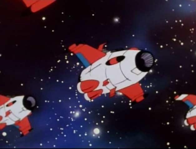 La flotte de ravitaillement de la Terre en provenance de Surabonde 7