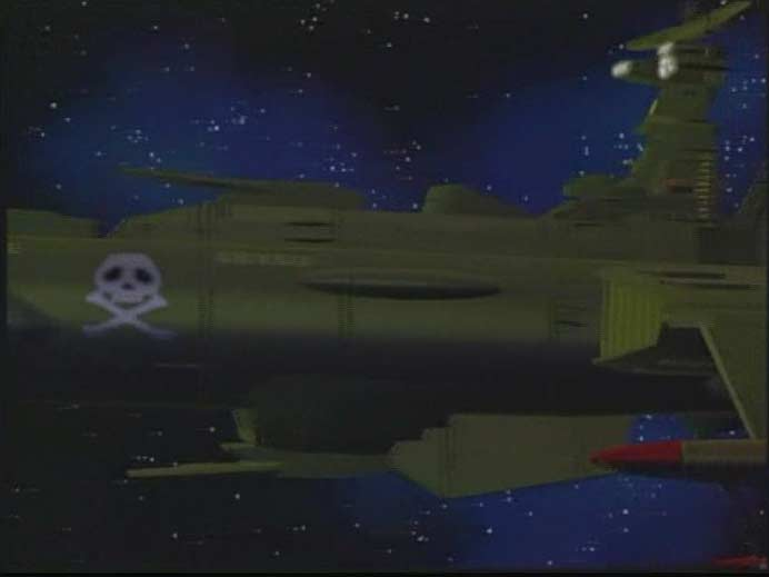 Dans cet épisode l'Arcadia est en 3D, mais l'intégration est un désastre