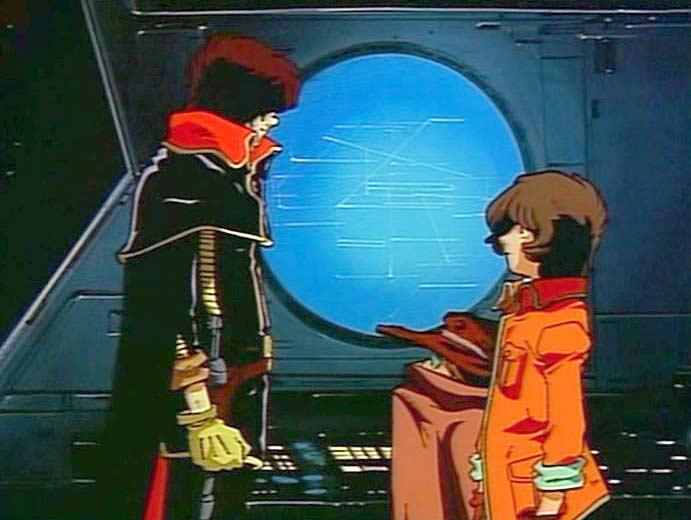 Tadashi rencontre Harlock qui l'invite à faire partie de l'équipage