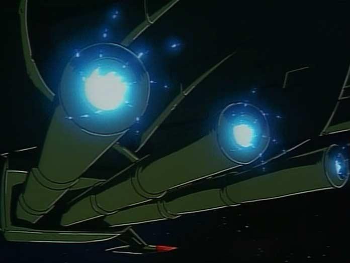 Les canons de l'Arcadia auront détruit en un coup le vaisseau ennemi