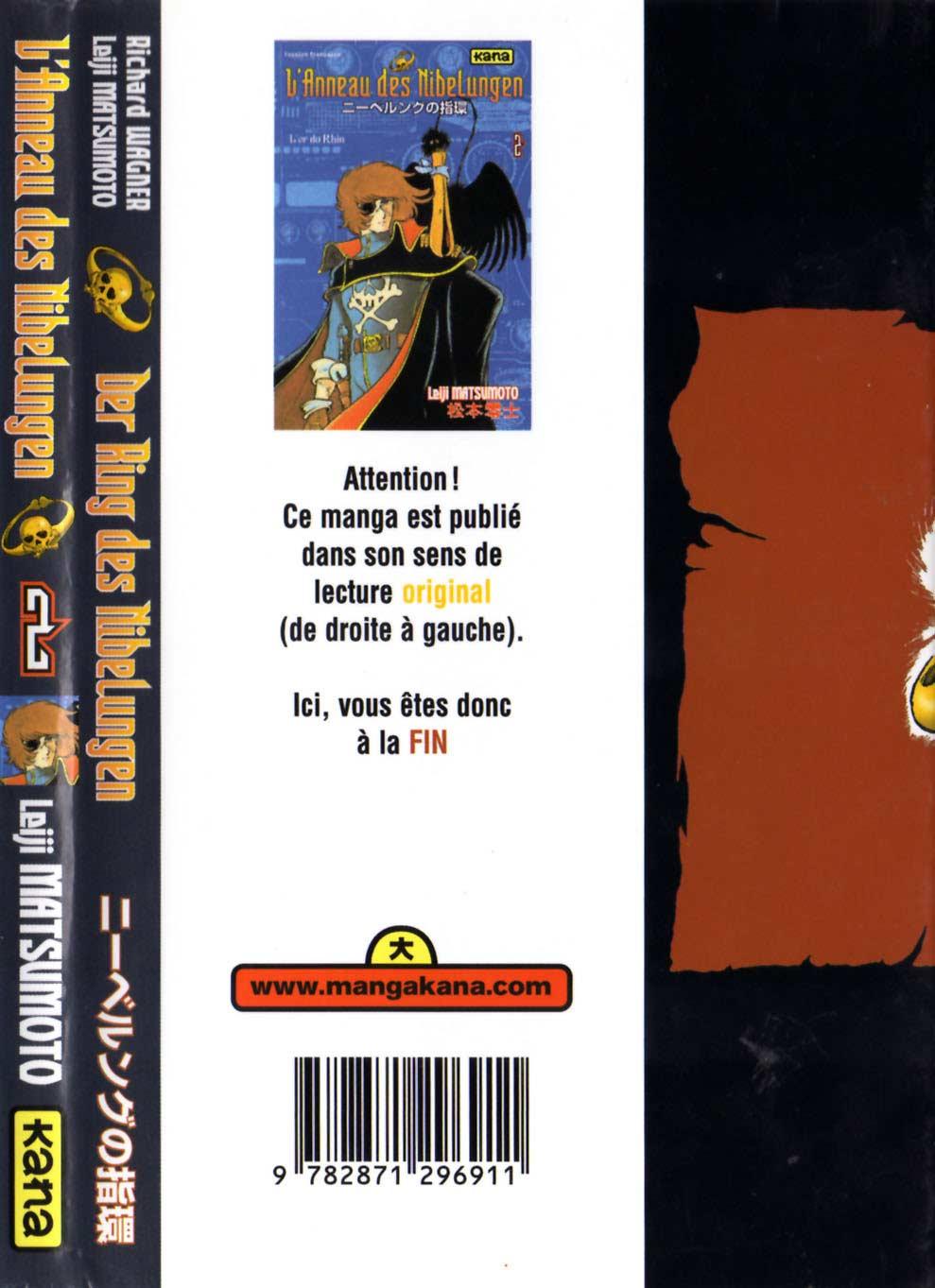 Tome 2 : L'Or du Rhin (l'Anneau des Nibelungen) - Couverture dos