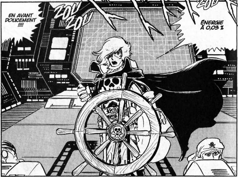 Great Harlock à la barre du Death Shadow 1