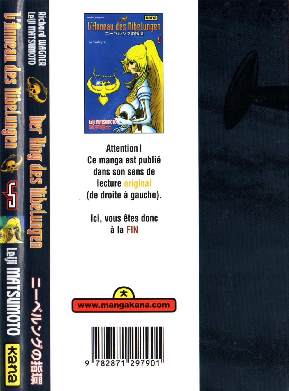 Dos de la couverture du Tome 5 : La Walkyrie (l'Anneau des Nibelungen)