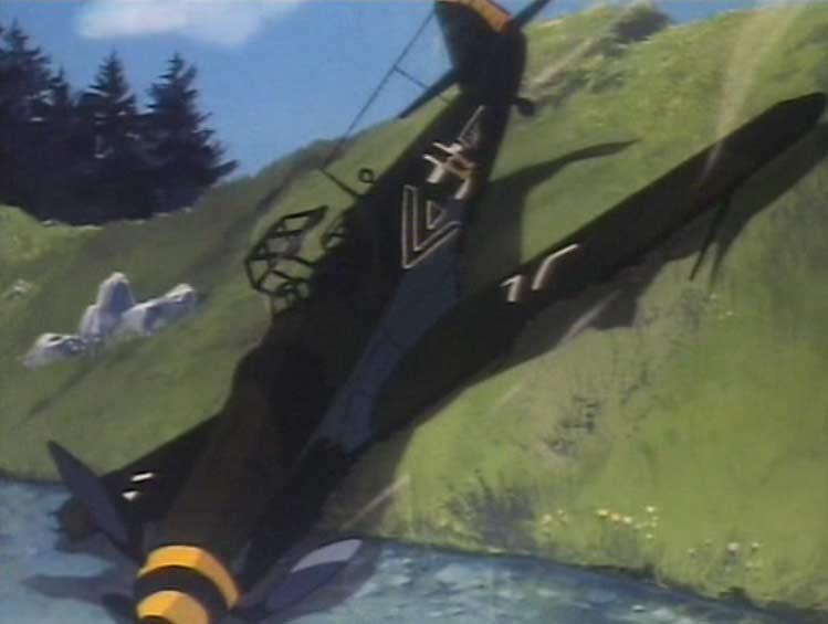 Un flash back montre l'ancêtre d'Albator qui est pilote d'avion allemand durant la Seconde Guerre Mondiale