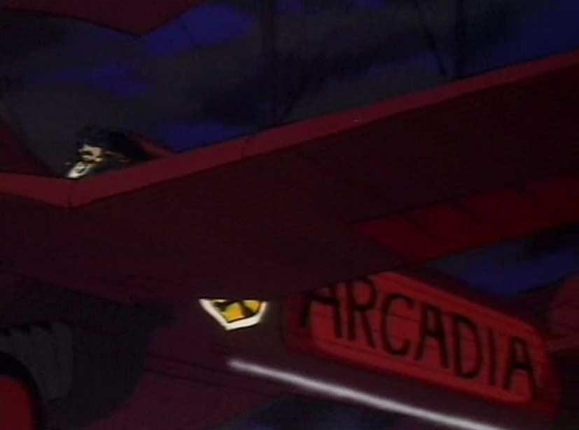 L'avion s'appelle Arcadia, comme l'Atlantis dans la VO