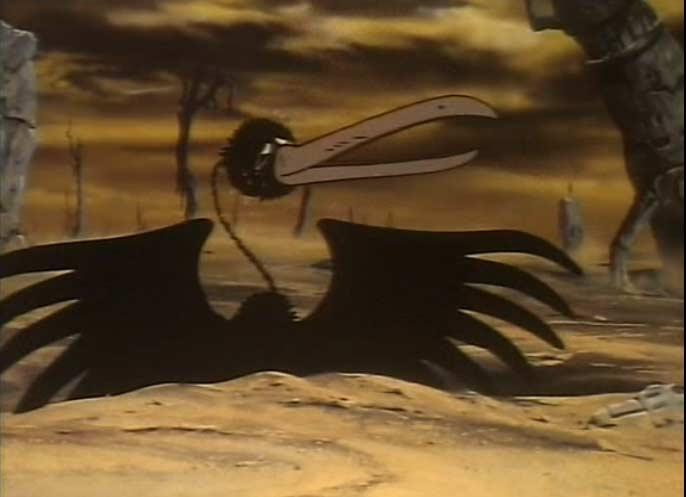Sur Tokarga Alabtor trouve un drôle de vautour qui deviendra son animal de compagnie dans la série TV