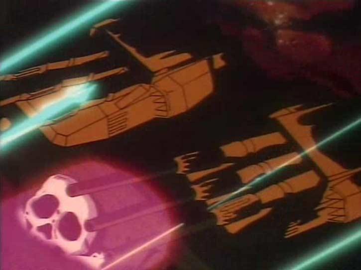 Le combat contre Zeda est rude et l'Atlantis est très endommangé