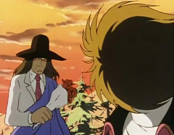 Le professeur Kussuko et Ramis se retrouvent devant la tombe du Docteur Valente, le père de Ramis