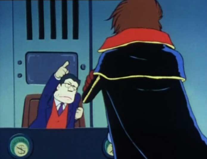 Albator essaie d'avertir le Premier Ministre du danger, mais celui-ci refuse de le croire.