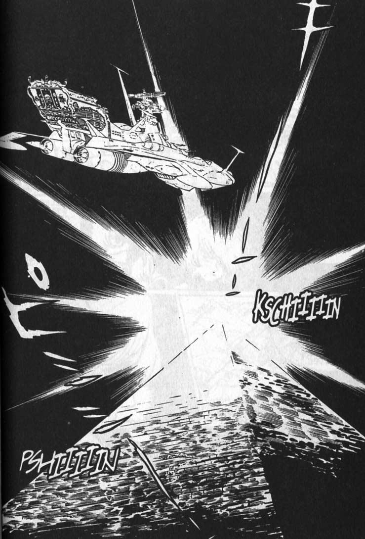 La pyramide apparaît aussi à la page 26 du deuxième tome du manga Capitaine Albator