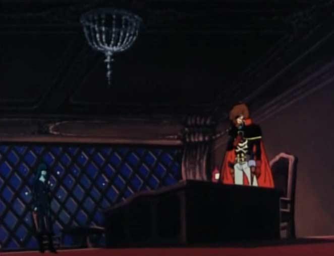 Un hologramme de sylvidre apparaît dans les quartiers d'Albator