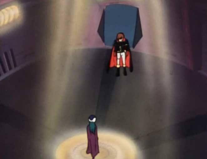 Albator rencontre Yaloïde dans une pièce renforcée