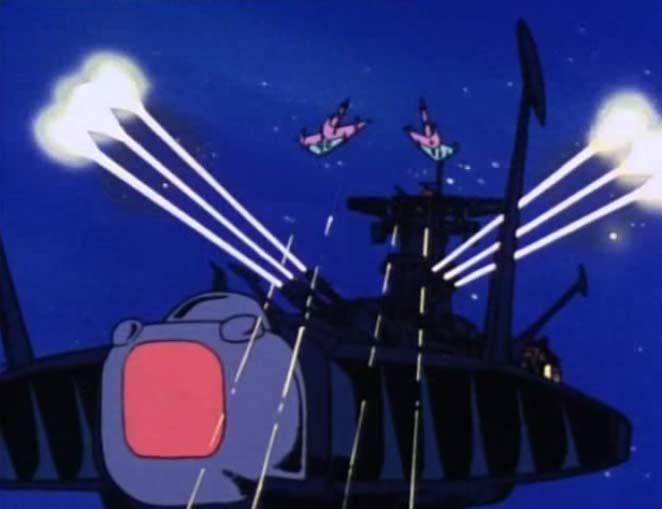 L'Atlantis combat une escadrille de vaisseaux sylvidres