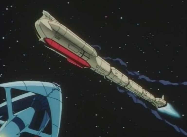 Le cargo spatial se fait attaquer (Queen Emeraldas - Episode 1 : Le Départ)